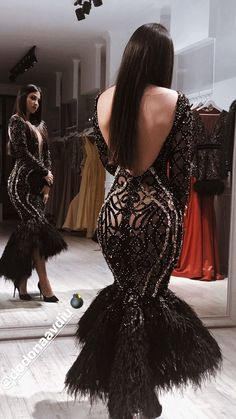 V-neck Hollow Sequined Sexy Evening Dress African Fashion Dresses, African Dress, Fashion Outfits, Dinner Gowns, Evening Gowns, Gala Dinner, Wool And The Gang, Event Dresses, Formal Dresses