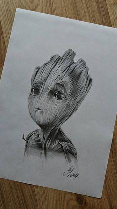 Baby Groot drawing www.instagram.com/drart82