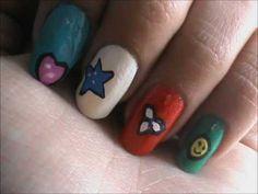 Magic nail art for KIDS- easy nail art for short nails- nail art tutorial- beginners designs   #Nailart  Like,Repin Share :)