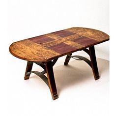 wine barrel coffee table arched napa valley wine barrel table