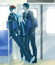 Daiki Aomine & Taiga Kagami & Tetsuya Kuroko | Kuroko no Basket #anime #shounen-ai #BL