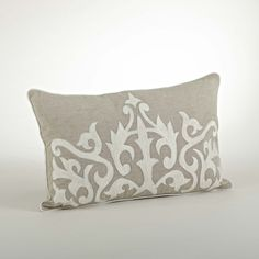 Dress up any room in contemporary style with this decorative pillow. This Embroidered design pillow is perfect for everyday home decor. Pillow inserts included.