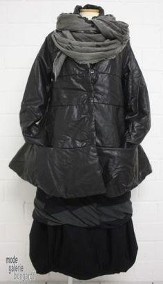 """www.modegalerie-bongardt.de - rundholz mode, rundholz black label, rundholz dip Rundholz black label Winter 2016 wattierte Jacke """"Leder-Optik"""" black 3971104-W16"""