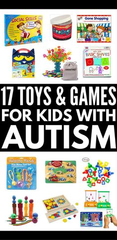 17 Developmental Toys for Autistic Children   The ultimate gift guide for kids with autism! If you have a child or student with special needs who struggles with gross or fine motor skills, hand eye coordination, social skills, language development, and/or sensory processing disorder, these fun learning activities, games, and toys are worth the investment! #autism #SPD #sensoryprocessingdisorder #autismtoys #autismgifts