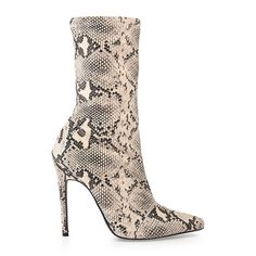 Natural Snake Ankle Boot - Shoes   YDE Stiletto Heels, High Heels, Toe Length, South African Fashion, Toe Shape, Shoe Boots, Shoes, Snake, Footwear