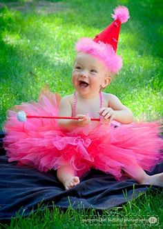 Birthday outfit for Baby Girl tutu party hat and wand