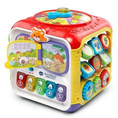 VTech Sort and Discover Activity Cube, Red * More info could be found at the image url. (This is an affiliate link)