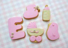 Estrade's cakes: galletas para un recién nacido, decoradas con fondant