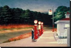 Gas, 1940 Stretched Canvas Print by Edward Hopper at Art.com