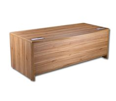 Executive American Walnut Bow Fronted Desk