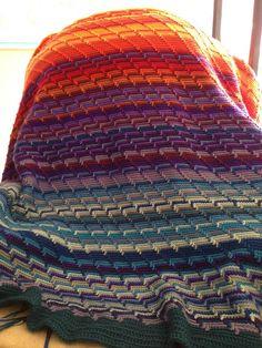 apache tears stitch temperature blanket