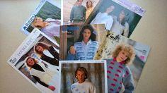 BUNDLE OF 7 LADIES KNITTING PATTERNS Vintage Knitting, Knitting Patterns, Lady, Knitting Paterns, Cable Knitting Patterns, Knit Patterns, Loom Knitting Patterns