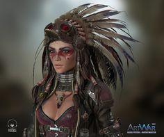 Quiana - Wasteland Stalker - Final, Alexej Peters on ArtStation at https://www.artstation.com/artwork/YoNgd
