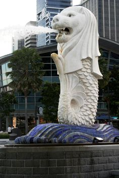 Singapore's famed, iconic symbol, the merlion.  -- In June, 2013, Singapore, among the highest good air quality locations in Asia, is suffering under heavy smog created by fires in Indonesia.  Learn more at http://www.examiner.com/article/delightful-singapore-cautions-against-heavy-smog