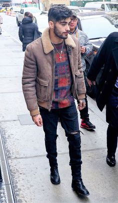 Zayn Malik Wearing Phillip Lim and Louis Vuitton