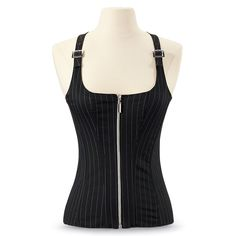 Pinstriped Corset - New Age, Spiritual Gifts, Yoga, Wicca, Gothic, Reiki, Celtic, Crystal, Tarot at Pyramid Collection
