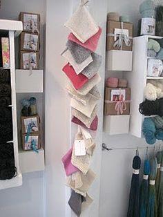 Swatch display knitting room