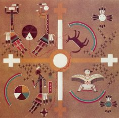 navajo sand paintings | in sand paintings are symbolic representations of a story in Navajo ...