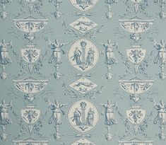Aphrodite Curtain Fabric A highly detailed toile design, originally designed by Jean Baptiste Huet at the turn of 19th century and featuring...