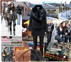 """""""COLD WEATHER OUTFIT: SUNDANCE FILM FESTIVAL STYLE"""" by margaretferreira ❤ liked on Polyvore"""