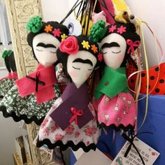 Frida Kahlo dolls