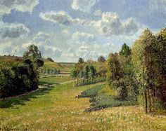 Camille Pissarro — Berneval Meadows, Morning via Camille...
