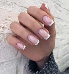 Manicure Nails - Manicure Nails - in 2020 French Manicure Acrylic Nails, French Tip Nails, Cute Acrylic Nails, Nail Manicure, Short French Nails, Nail Polish, Love Nails, Pretty Nails, My Nails