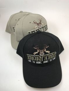 Three 3 New HUNTER Live to Hunt   Hunt to Live BaseBall Caps Adjustable Hats   Hunter  BaseballCap e53dccd5fcfd