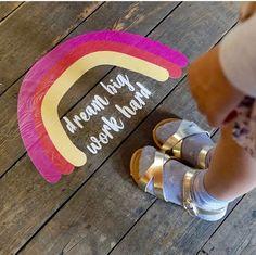 Dream Big and Work Hard - advice for Kidpreneurs at Holly & Co Work/Shop. Girl Standing, Room Colors, Dream Big, Live Life, Work Hard, Workshop, Retail Space, Slogan, Entrepreneur