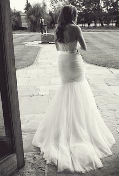 Watters amina skirt and carina corset. Tulle and lace wedding dress. Mermaid wedding dress, fishtail wedding dress.