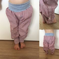DIY: make new from old – how daddy's shirt becomes a favorite pants - upcycling kleidung Baby Outfits, Kids Outfits, Baby Sewing Projects, Clothes Crafts, Dad To Be Shirts, Diy Shirt, Little Girl Dresses, Kind Mode, Diy Fashion
