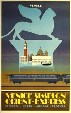 Original Vintage Posters -> Travel Posters -> Venice - Simplon Orient Express - AntikBar