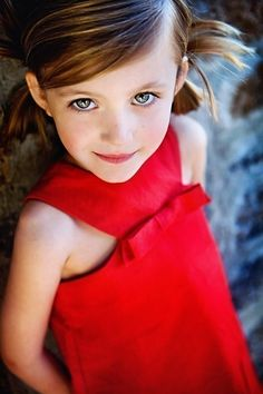 Retro Style Red Jewel Neckline dress-children clothing. $42.00, via Etsy.