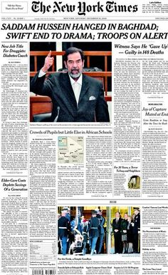 a brief history of the doings of saddam hussein Although their impact on european society comes from three distinct world views their actions on the stage of history are  brief comment on  hussein pledge for.