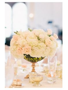 Centerpieces, but will coral and pink garden roses