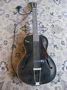 1935-Gibson-L-30-Archtop-Acoustic-Guitar-L30-vintage-RARE-BLACK-Finish