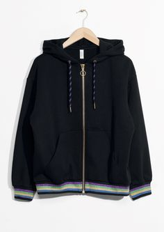 & Other Stories image 1 of Zip Sweater in Black