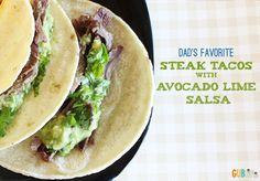 Steak Tacos with Avocado Lime Salsa - Growing Up Blackxican
