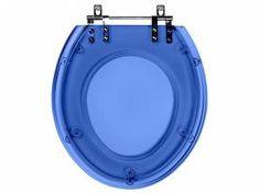 Assento Sanitário Azul Translúcido Ritz - para Louça Deca - Pontto Lavabo