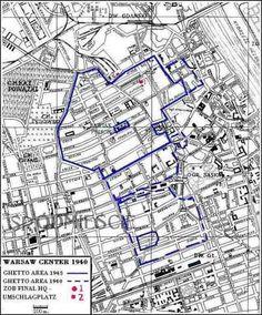 Warsaw Ghetto Map #warsaw ghetto, #holocaust