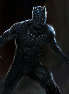 New Concept Art for MCU Black Panther by Andy Park. Marvel made the right choice. the suit they used in the movie was much, much better. Black Panther Marvel, Black Panther Character, Black Panther King, Marvel Comics, Dc Comics Art, Marvel Art, Marvel Heroes, Marvel Avengers, Civil War Characters