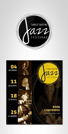 Logo e cartaz para o evento de Jazz no Taubaté Shopping #jazz #brand #triadaz