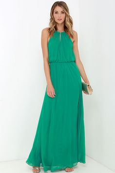 What a Night Green Maxi Dress at Lulus.com!