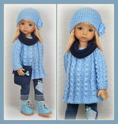 OOAK Back to School Blue Outfit ends 8/17/14 from maggie_kate_create. SOLD for $150.00