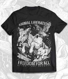 NEW Blood Tight Vegan Animal Rights T-Shirt! Pre-order now.