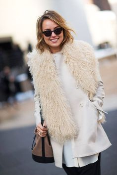 White Winter Outfit Ideas : Street Style : MartaBarcelonaStyle's Blog