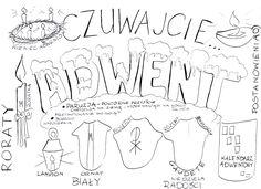 adwent-owo – Katecheza według Natana Madonna, Hand Lettering, Origami, Teaching, Education, Halloween, Words, Crafts, Bible