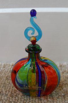 Multi-Colour Art-Glass Scent Bottle by 'F M Ballarin' - Murano Glass ♥≻★≺♥