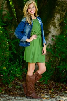 Simply Perfect Dress, Green