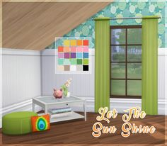 Let The Sun Shine Window CurtainsAnother Parenthood recolor! I'm absolutely in love with this pack! Item Details: • Requires Parenthood. • Two packages. One solid, one sheer. • Standalone recolor. •...